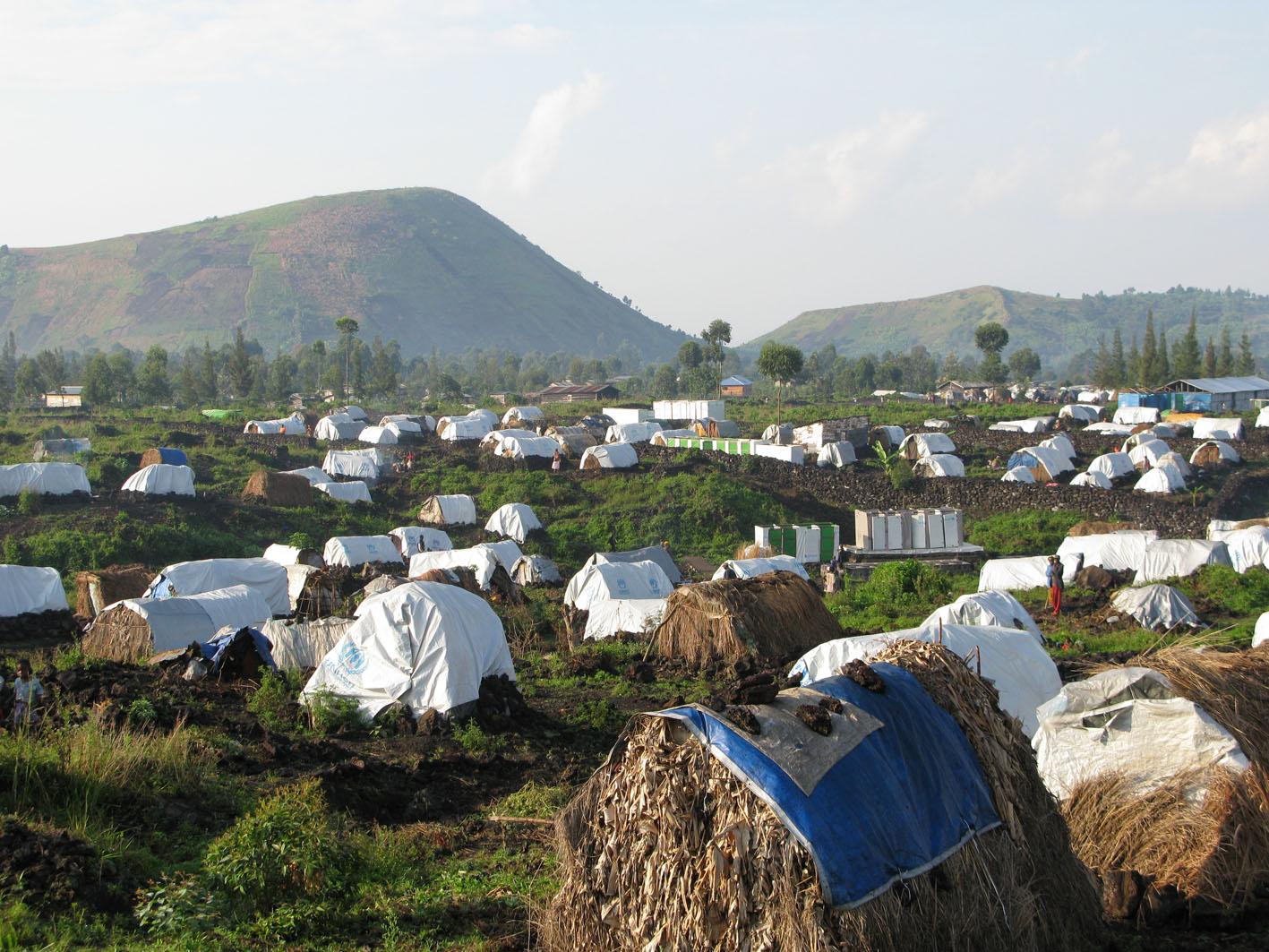 Campi profughi nei pressi di Goma (foto d'archivio)