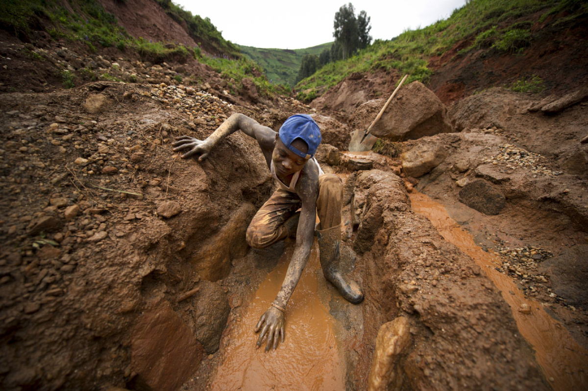 Miniera di Coltan in Repubblica Democratica del Congo